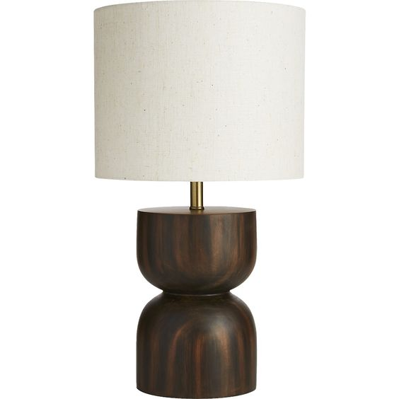 White table lamp in a beautiful half oval shape