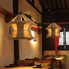 Set of two hanging rustic lamp in creative house shape
