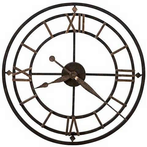 Metal made wall clock with bronze finishing