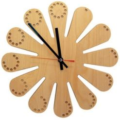 Leaves shape wooden wall clock in unique design