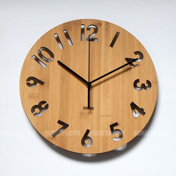 Unique numbers special wooden wall clock