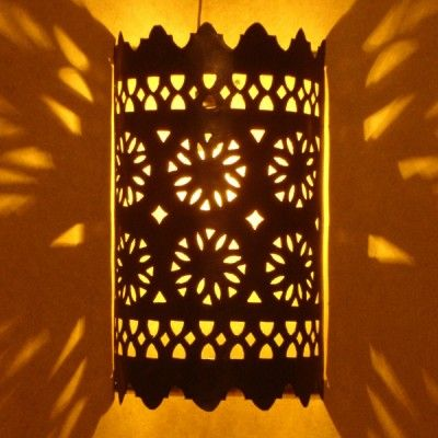 Beautiful moroccan wall lamp with brass finishing