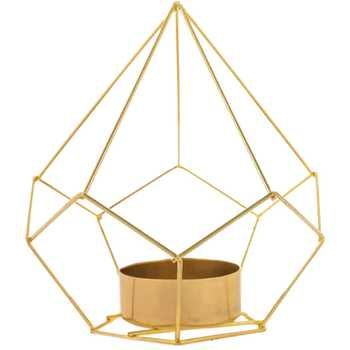 Modern Gold geometric metal tea light holder