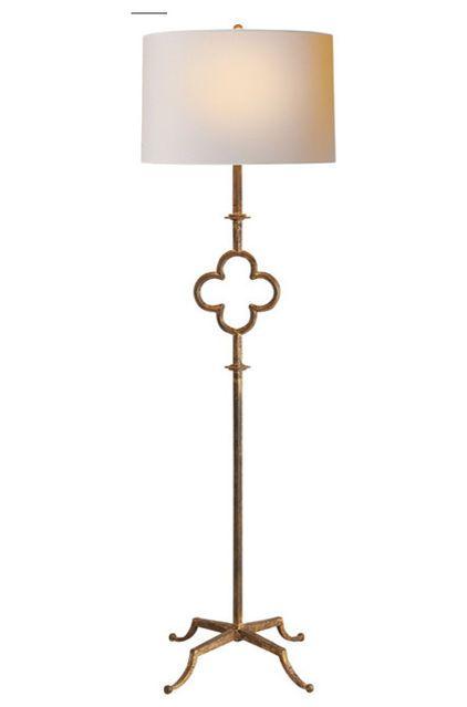 Light beige color wooden floor lamp for living room