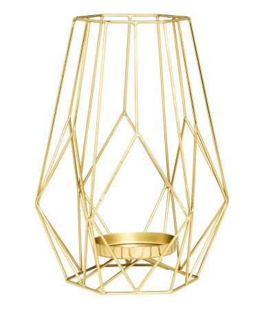 Revamped Gold coloured metal candleholder
