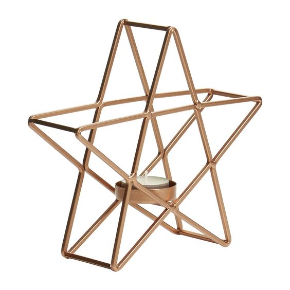 Unique Hexagon shape small candlelight holder