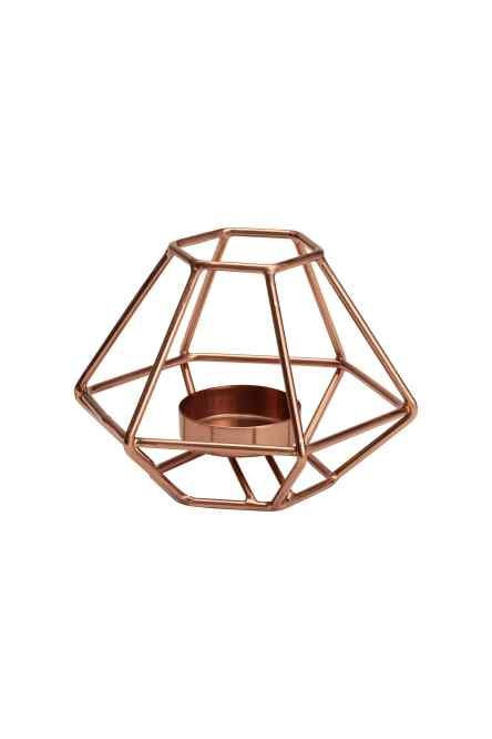 Copper made candle light holder for home décor