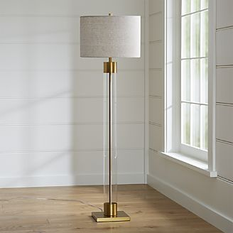 Golden finishing floor lamp made with brass
