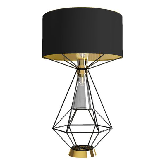 Black floor lamp with a unique and creative base
