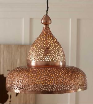 Copper moroccan hanging light in beautiful design