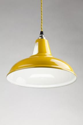 Yellow hanging lamp with matching color wire