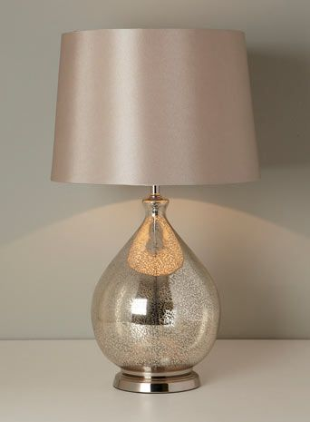 Light pink lamp with a glass texture base
