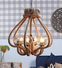 Penta bulbs hanging rustic lamp in creative design