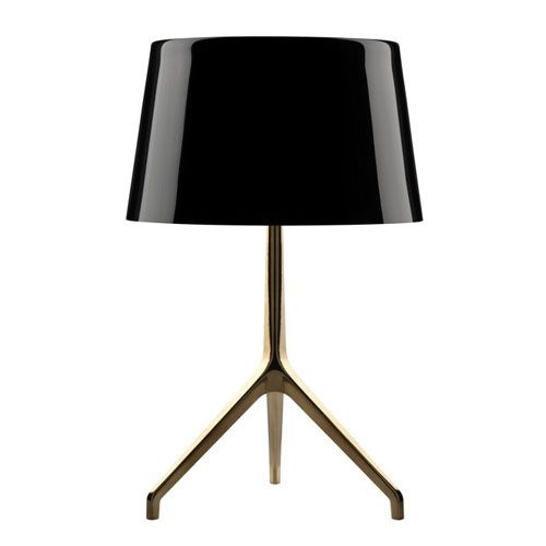 Three feet Standing lamp in a black shade