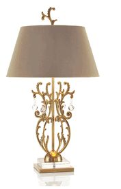 Dark beige color lamp with a royal golden finishing