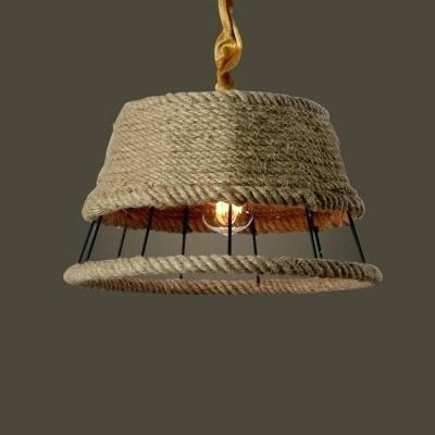 Semi covered hanging rustic hanging lamp